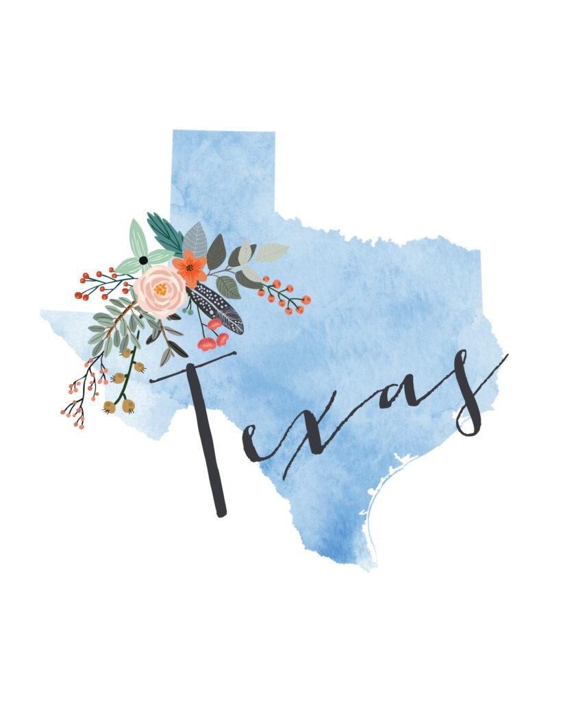 Texas Printable