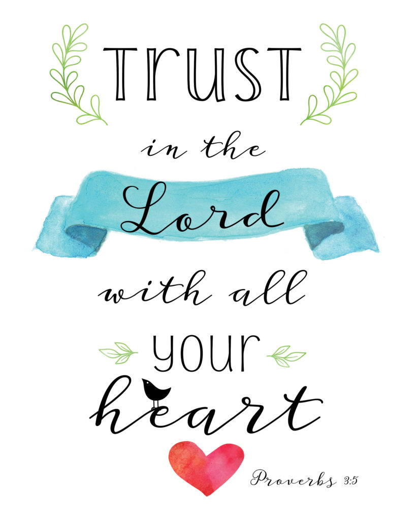 trust in the lord printable